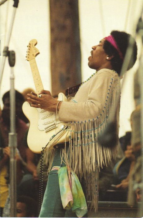Jimi Hendrix at Woodstock 1969