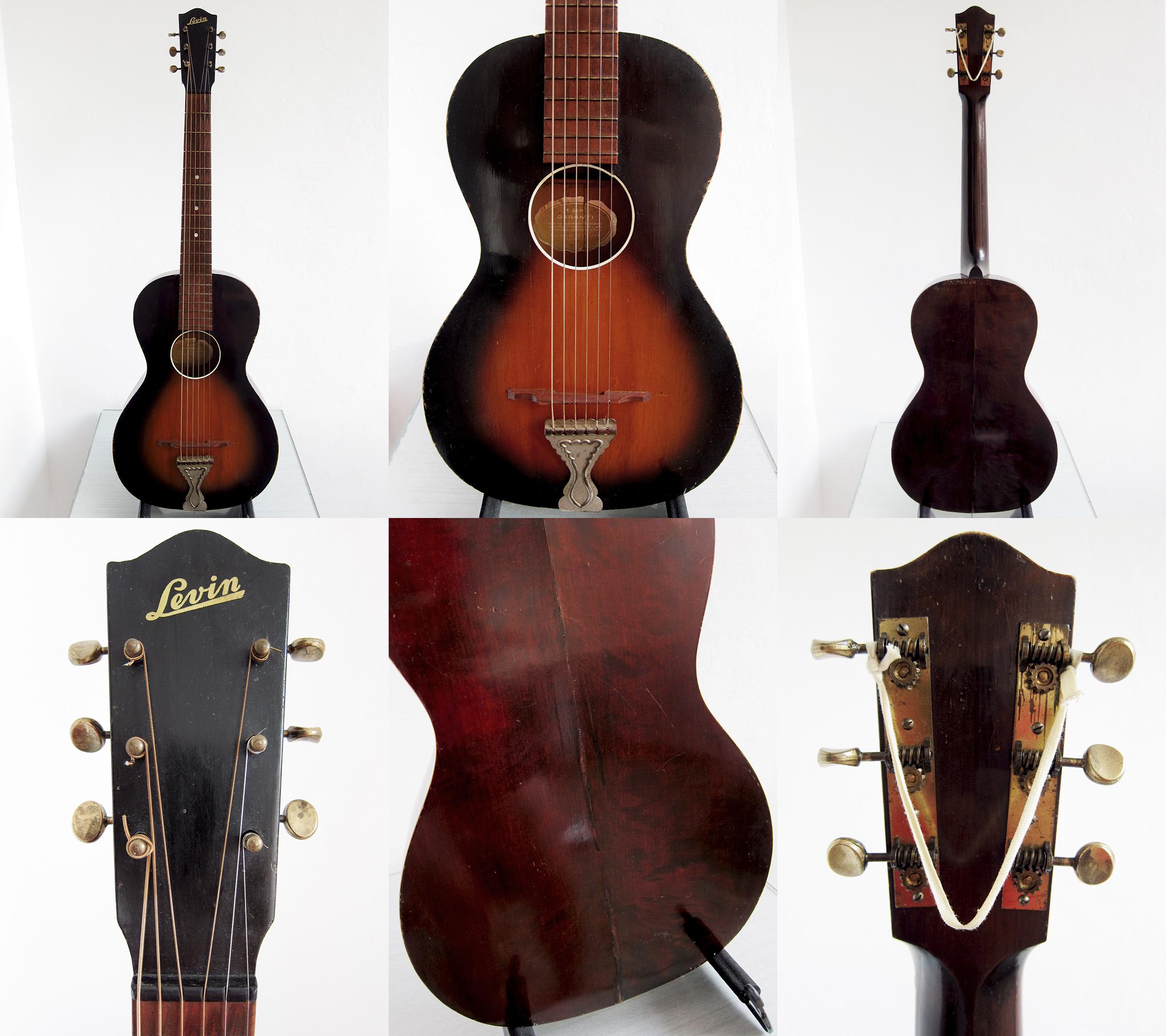 Levin Model 65 parlour guitar Made in Sweden 1942