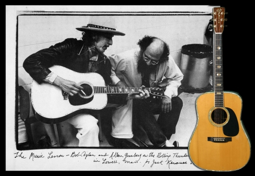 Bob Dylan 1975 with A. Ginsberg playing a Martin D-45