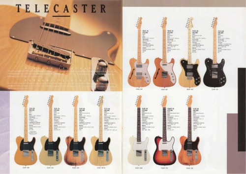 Fender Japan Twang catalogue 1989