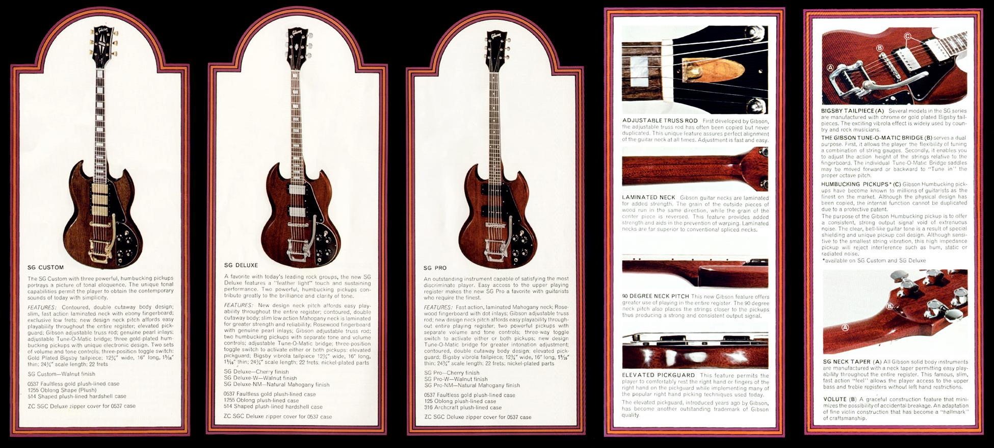 greco claescaster gibson sg 1972 catalogue