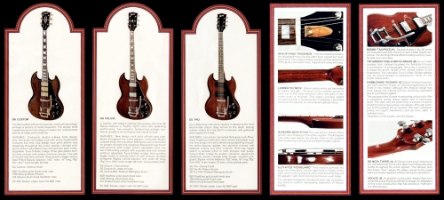 GIBSON SG 1972 catalogue