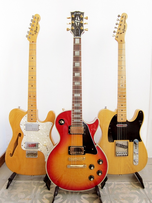 Greco Spacey Sounds TE-500N, Greco Les Paul Custom EG-600C, Greco Spacey Sounds TL-500