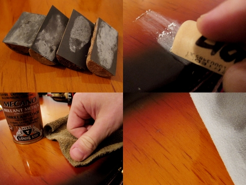 Repairing lacquer damage on guitar