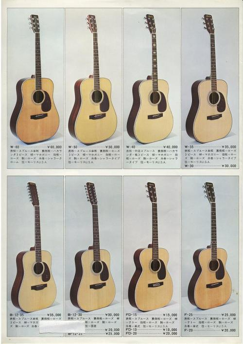Morris catalogue Japan 1975