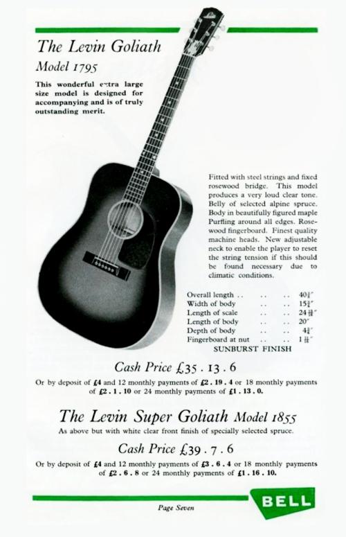 Levin Goliath ad 1962