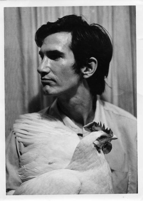 Townes Van Zandt with chicken