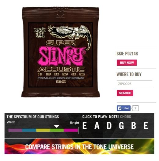 Ernie Ball Super Slinky 11-52