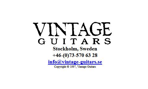 Vintage Guitars Stockholm Sweden