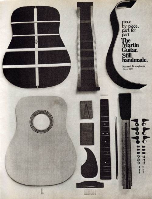 Martin guitar ad from Guitar Player Magazine, September 1974