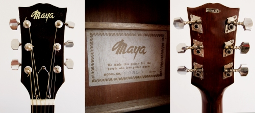 Maya F335G, Made in Japan 1970's