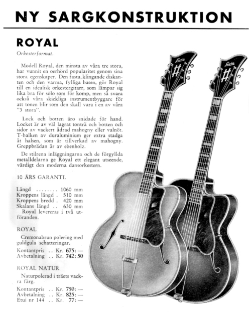 Levin Model 3 Royal, Vintage guitars Sweden
