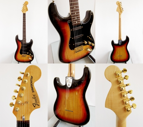 Fender Stratocaster Made in USA 1979, 3 tone Sunburst, hardtail
