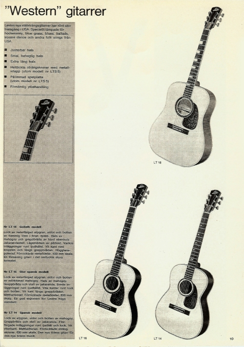 Western gitarrer, Levin / Goya catalogue 1965