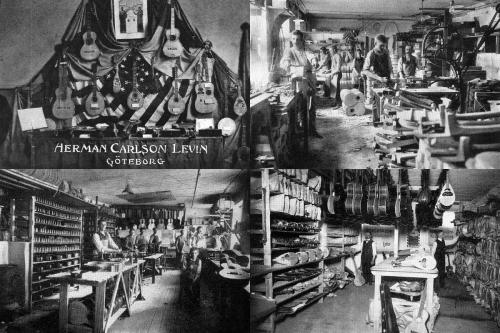 The old Levin factory on Norra Larmgatan 4 in Gothenburg, Sweden 1910-20