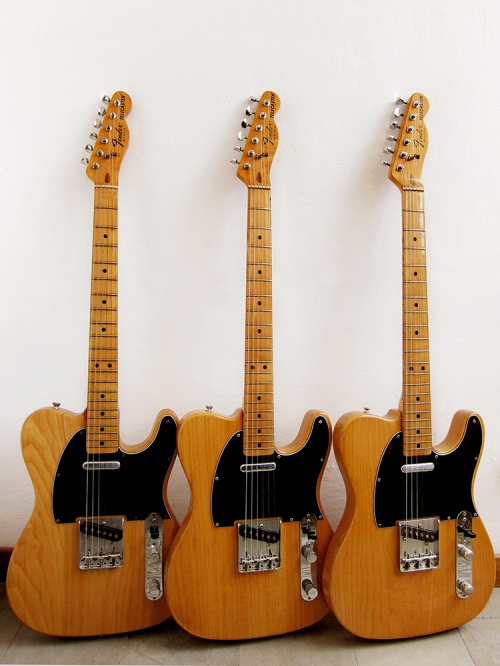 3 original Fender Telecaster Made in USA, Fullerton 1978-79